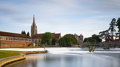 Marlow (THE NUTTY PHOTOGRAPHER) Tags: longexposure church churches marlow riverthames weir trees