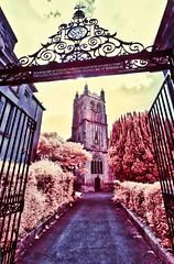 St James' Church (Matt Bigwood) Tags: infrared dursley church gloucestershire nikon d100 1024 false color cotswolds
