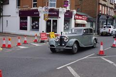 IMGP1745 (Steve Guess) Tags: classic bentley motor car ewellroad a240 surbiton surrey greater london england gb uk bnb708 roadworks 1935 3½ litre saloon cones