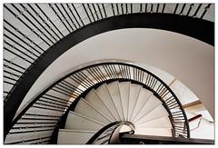 Kurven und Linien | curves and lines (frodul) Tags: architektur detail gebäude geländer gestaltung innenansicht konstruktion kurve linie stair staircase stairrail stairway step treppe berlin stufe line lines curve curves