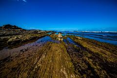 Baskenland0080Sopela (schulzharri) Tags: baskenland basque spanien spain espana bilbao reise travel strand beach meer ocean atlantik sonnenuntergang felsen rock water himmel wasser sky