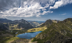 Étang Blaou, Pyrenees, France (StarCitizen) Tags: france mountains clouds summer landscape water blue lake