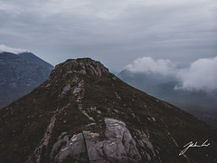 Doan Mountain (jtatodd) Tags: 2019 adventure aerial amateur clouds crags dji djimavicair digital drone flight fog hike hiking ireland landscape mountains mournes nature northernireland photography rocks sky slievedoan stormy windy