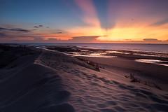 desert and sunset (archkoven13) Tags: sunset 夕陽 日落 sky 沙灘 rainbow 霞光 海景 沙丘 台灣 太陽 減光鏡 leefilter cpl canon6d2 2470f28l