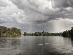 The storm passes by (yooperann) Tags: gwinn forsyth township upper peninsula michigan marquette country rain clouds east bass lake summer storm