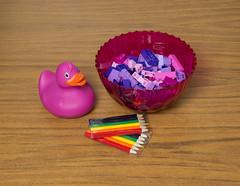 (Chris Hester) Tags: 13p duck pink bowl lego purple pencils lilac