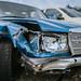 Auto auf dem Schrottplatz nach einem Unfall mit Totalschaden
