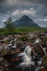 Buachaille Etive Mor (Through the Midge!) (Squareburn) Tags: glencoe buachaille etivemor mountain scotland waterfall glenetive scottishhighlands