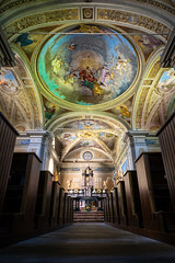 Chiesa di Santa Maria Assunta e di San Giovanni Battista, Cevio - Switzerland (Patrik S.) Tags: ngc switzerland church religion light shadow pray worship monastery colorful quiet empty sony a7m3 a7iii lord cover painting wide angle