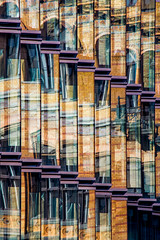 Reflections 17 (Récard) Tags: reflection abstract facade glass colours geometry