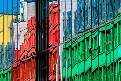 Reflections 16 (Récard) Tags: reflection abstract facade glass colours
