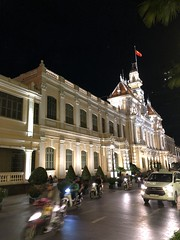 Ho Chi Minh City People's Council building (Simon_sees) Tags: cityscape streetscape city traffic night vietnam saigon hochiminhcity