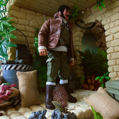 The final stop off, before home. (Blondeactionman) Tags: action man bamhq doll photography diorama one six scale dinosaur valley custom teegan wilberforce chas anderson