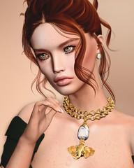 I was only falling in love (desiredarkrose) Tags: korina glamaffair portrait face faces head meshbentohead lagyo chic necklace jewellery slblog sl secondlife avatar doux