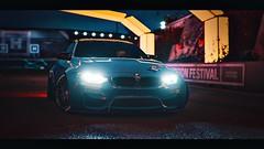 L O W K E Y (polyneutron) Tags: bmw blue libertywalk tuning sport car forza horizon dark night festival colors neon flare