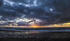 Moody Sunset (CraDorPhoto) Tags: canin6d landscape clouds sky sun sunset nature outdoors outside newzealand punakaiki beach coast sea