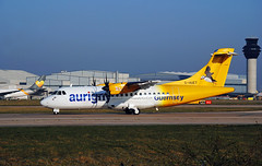 Aurigny Air Service ATR-42 (Infinity & Beyond Photography: Kev Cook) Tags: atr atr42 atr42500 regional prop aircraft airliner manchester airport man ringway aurigny guernsey airlines planes photos ghuet puffin tail