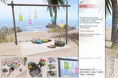 Sway's [Leila] Set | TLC (Sway Dench / Sway's) Tags: picnic summer beach garden meadow blanket basket cuddle couple love lantern paper fruits sun vr sl