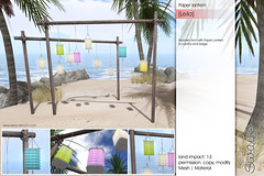 Sway's [Leila] Paper Lantern | TLC (Sway Dench / Sway's) Tags: picnic summer beach garden meadow blanket basket cuddle couple love lantern paper fruits sun vr sl