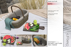 Sway's [Leila] Basket & Fruits | TLC (Sway Dench / Sway's) Tags: picnic summer beach garden meadow blanket basket cuddle couple love lantern paper fruits sun vr sl