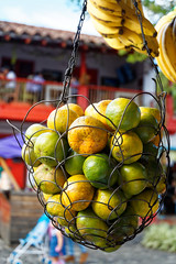 Green Oranges (Amandine G) Tags: oranges bananes fruits obst fruta pueblitopaisa colombia medellin juice