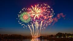 Bouquet of fiery flowers. \ Букет огненных цветов. (Nitohap) Tags: цветы праздник огонь шоу салют фейерверк омск show flowers holiday fire fireworks salute omsk d850 2470