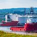 FS Kristiansand Departing Aberdeen Harbour 03/08/2019.