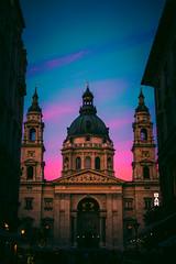 Szent István-bazilika / St. Stephen's Basilica (Z--S) Tags: sunset budapest basilic sky cityscape travel