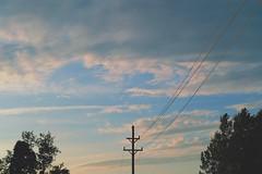 adirondacks, new york (Anthony.Vitale) Tags: fujifilm fujixpro2 xpro2 trees sunset sky newyork lines clouds dusk pole minimalism adirondacks