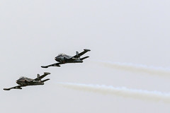 PAIR OF STRIKEMASTERS ARRIVING NEWCASTLE (2) (toowoomba surfer) Tags: jet aeroplane aviation aircraft ncl airshow