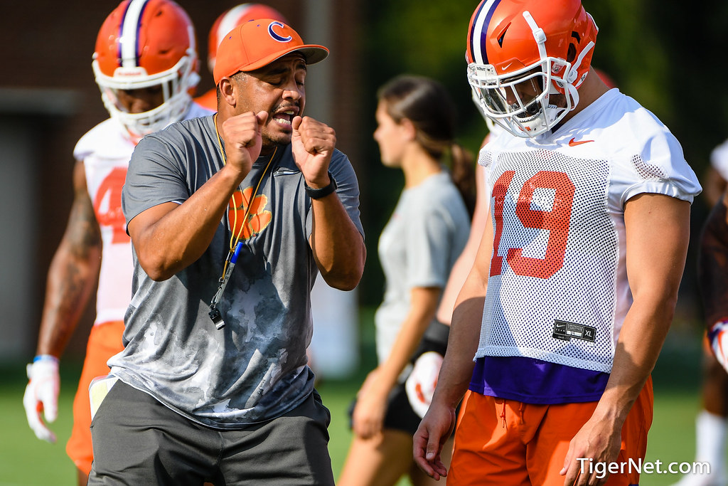 Clemson Photos: Tanner  Muse, Tony  Elliott, 2019, Football