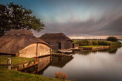 Evening Light at Hickling Broad (dpowley65) Tags: norfolkbroads boathouse bigstoppers leefilters longexposure dusk