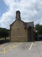 Ticket office at Millers Dale Station, Monsal Trail.   (Former Derby - Manchester line)   August 2019 (dave_attrill) Tags: ticketoffice building cafe courtyard millersdale station monsaltrail disused railway line trackbed footpath bridleway cyclepath derbyshire peakdistrict nationalpark wyevalley buxton derbytomanchester midland august 2019 closed1968