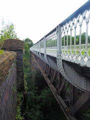 Both viaducts at Millers Dale.  (Former Derby - Manchester line)   August 2019 (dave_attrill) Tags: bridge viaduct restored parapet wroughtiron millersdale station monsaltrail disused railway line trackbed footpath bridleway cyclepath derbyshire peakdistrict nationalpark wyevalley buxton derbytomanchester midland august 2019 closed1968