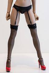 VSToys 18XG25 Bra/Panty/Garter Review (edwicks_toybox) Tags: 16scale tbleague blonde bra femaleactionfigure femaleshooter garterbelt highheels jacket panty phicen seamlessbody stockings verycool