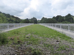 North viaduct at Millers Dale.  (Former Derby - Manchester line)   August 2019 (dave_attrill) Tags: bridge viaduct restored north parapet wroughtiron millersdale station monsaltrail disused railway line trackbed footpath bridleway cyclepath derbyshire peakdistrict nationalpark wyevalley buxton derbytomanchester midland august 2019 closed1968