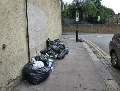 Dumping in Moorefield Road, Tottenham N17 near the junction with St Loys Road