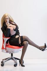 Inspired by Marina (edwicks_toybox) Tags: 16scale tbleague blonde businesssuit chair dorothyparkerwaswrong eyeglasses femaleactionfigure femaleshooter garterbelt highheels jacket phicen seamlessbody shirt skirt stockings verycool