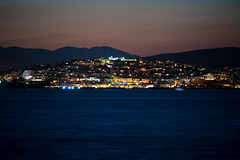 Castella by night (athanecon) Tags: castela castella kastela kastella piraeus pireas harbour port dusk bluehour thebluehour sunset colours colors nature light sky clouds sea city citysky citylights urban urbansunset attica greece night summer summernight mikrolimano tourkolimano nikon nikond750 nikon70300mm