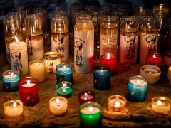 Candle lights at Mont Saint Michel
