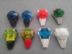 Slipscout fleet (GeneralTron's bricks) Tags: lego slipscout mtron blacktron spacepolice2 unitron futron iceplanet spyrius moc