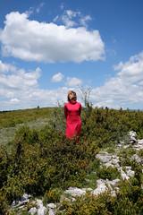 incantation II (the ripped bystander) Tags: causse méjean nature female reddress