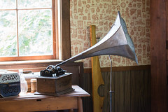 deep river county park. august 2019 (timp37) Tags: deep river county park august 2019 indiana baseball grinders record player edison phonograph gramophone