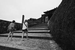 steps (ababhastopographer) Tags: okinawa shuri gusuku grain acros shuricastle fengshui 沖縄 首里城 グスク 風水 足取り 階段 粒 castle