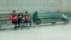 Patiently waiting (Ruth Flickr) Tags: 1950 4 britishmuseum england europe london uk alone blur city highkey icm separate summer