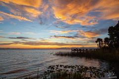 Sunset over Lake Washington (Michael Seeley) Tags: canon clouds florida lakewashington melbourne mikeseeley shore spacecoast sunset water