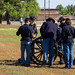 Fort Concho Soldiers prepare to fire a cannon