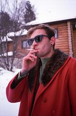 Brevno outtakes (Igor Verkhovskiy) Tags: 35mm film fujifilm yashicat4 yashica filmcollective analogcamera analogfeatures filmforlife filmnotdead filmcommunity naturallight man portrait smoking cigarette retro clothing