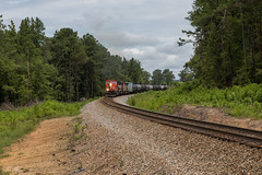 Three Canadians: Round 2 (travisnewman100) Tags: norfolk southern canadian national cn ns train railroad rr freight atlanta north district coots lake road georgia division braswell 64h ethanol unit tanker emd sd75i ge c408m zebra british colombia railway bcol