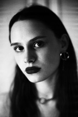 Riya (Igor Verkhovskiy) Tags: 35mm film fujifilm filmcollective analogcamera analogfeatures filmforlife filmnotdead filmcommunity naturallight nikonf3 nikon girl blackandwhite portrait bw look